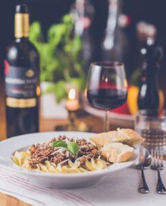 vin med middag