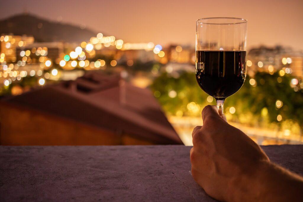 vin på altan